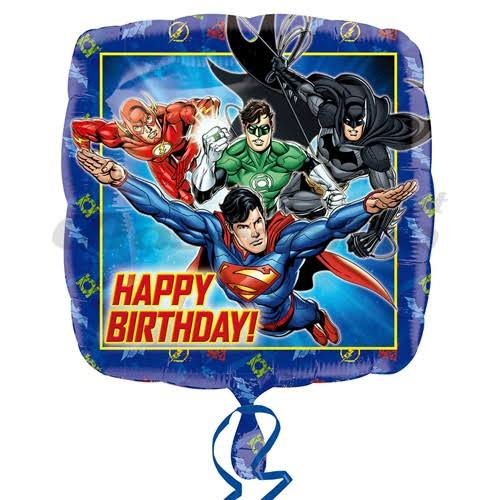 Amscan Justice League Happy Birthday Foil Balloon