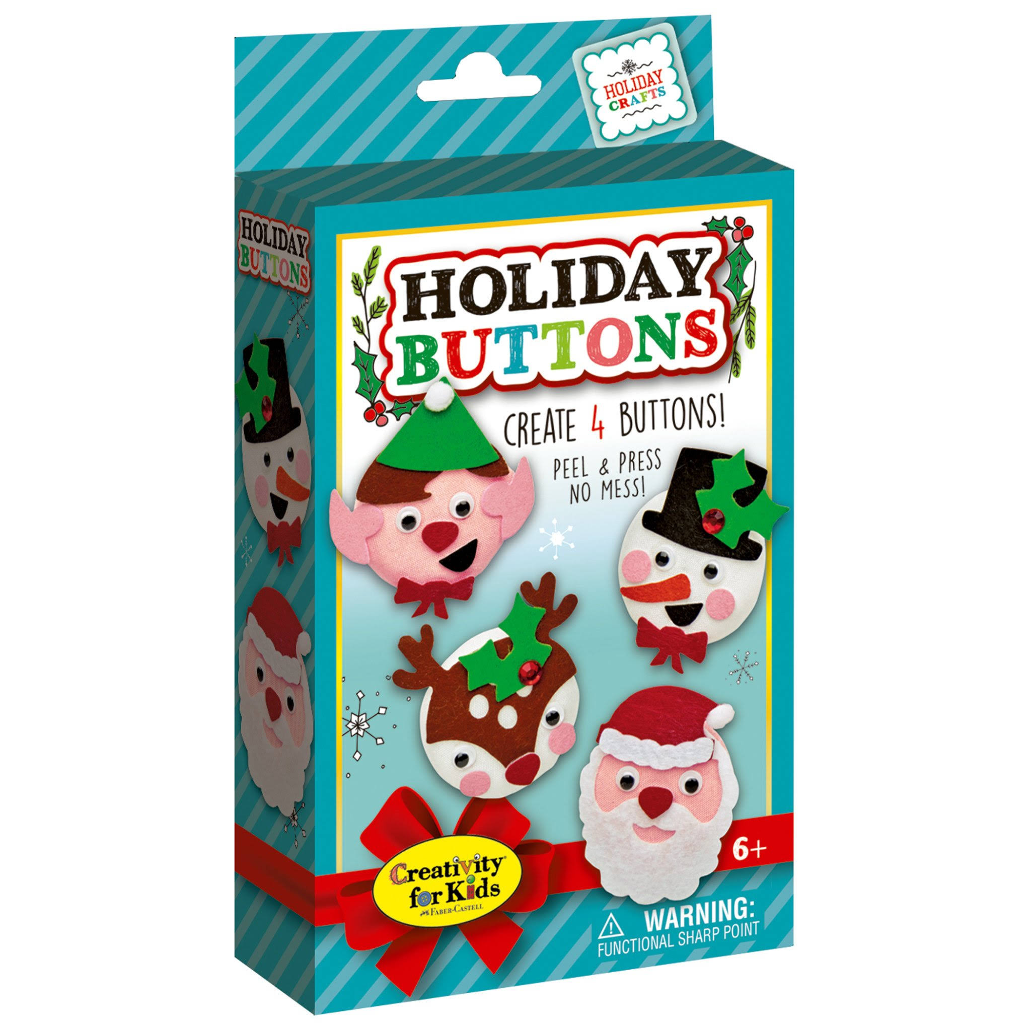 Creativity for Kids Holiday Buttons Mini Kit, Men's