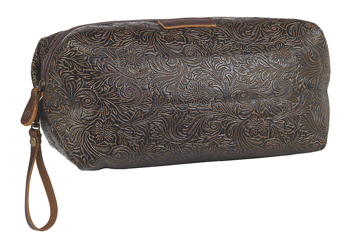 M F Western Dot23762dt Tooled Shaving Kit Bag