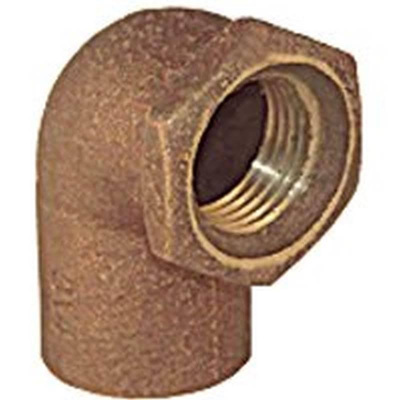 "Elkhart Products 10156816 Low Lead Elbow - 1/2"", Copper, 90 Deg"