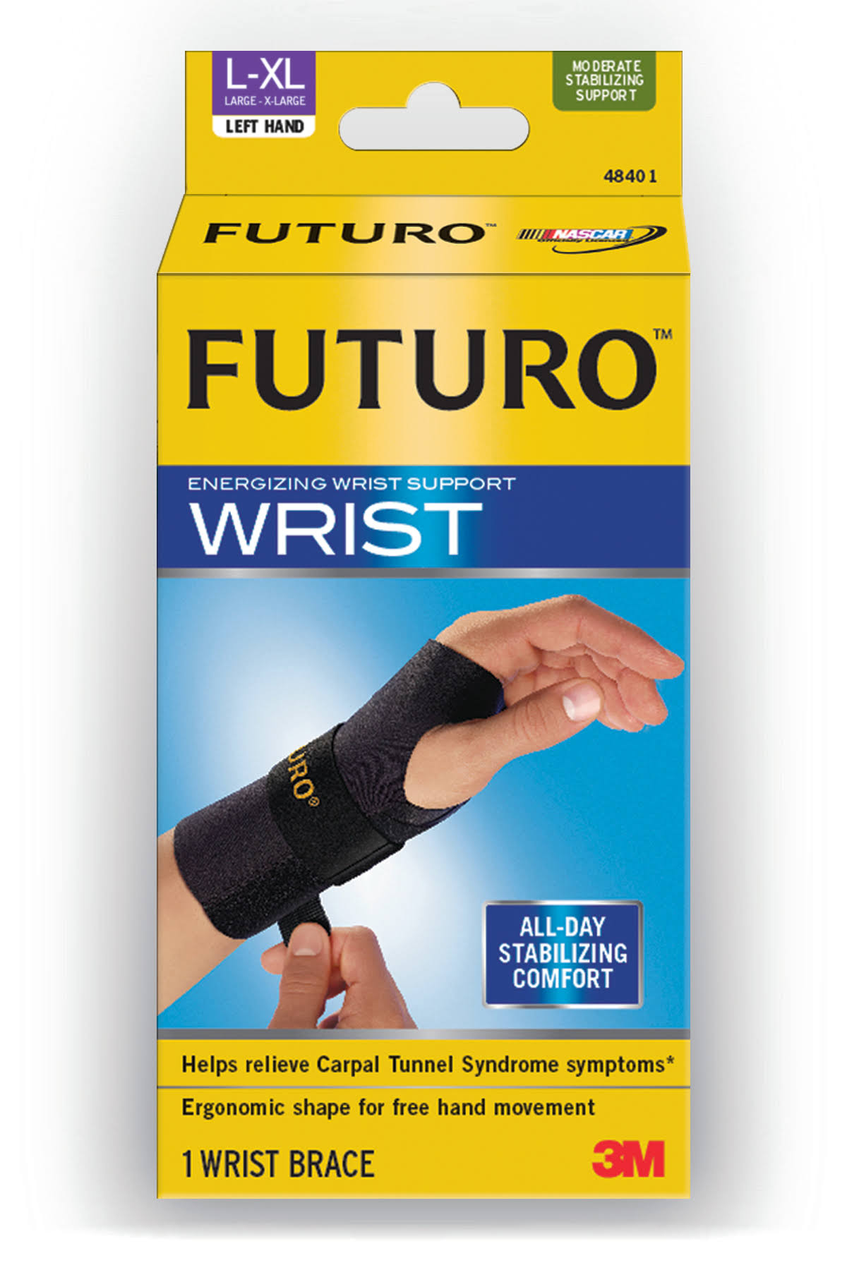 Futuro Energizing Wrist Support - Left Hand, X-Large