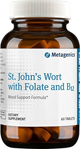 Metagenics St John's Wort with Folate and B12 Supplements - 60ct
