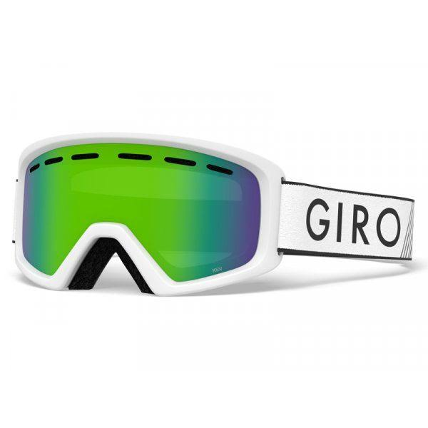 Giro Youth Rev Snow Goggles - White Zoom/Loden Green Lens
