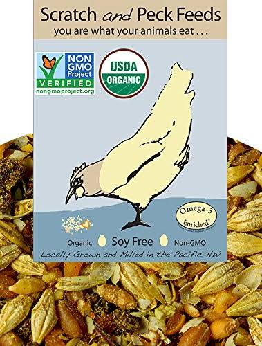 Organic Naturally Free Grower Chicken Feed 25lbs