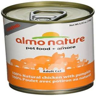 Almo Nature Canned Cat Food - Chicken with Pumpkin, 4.95oz