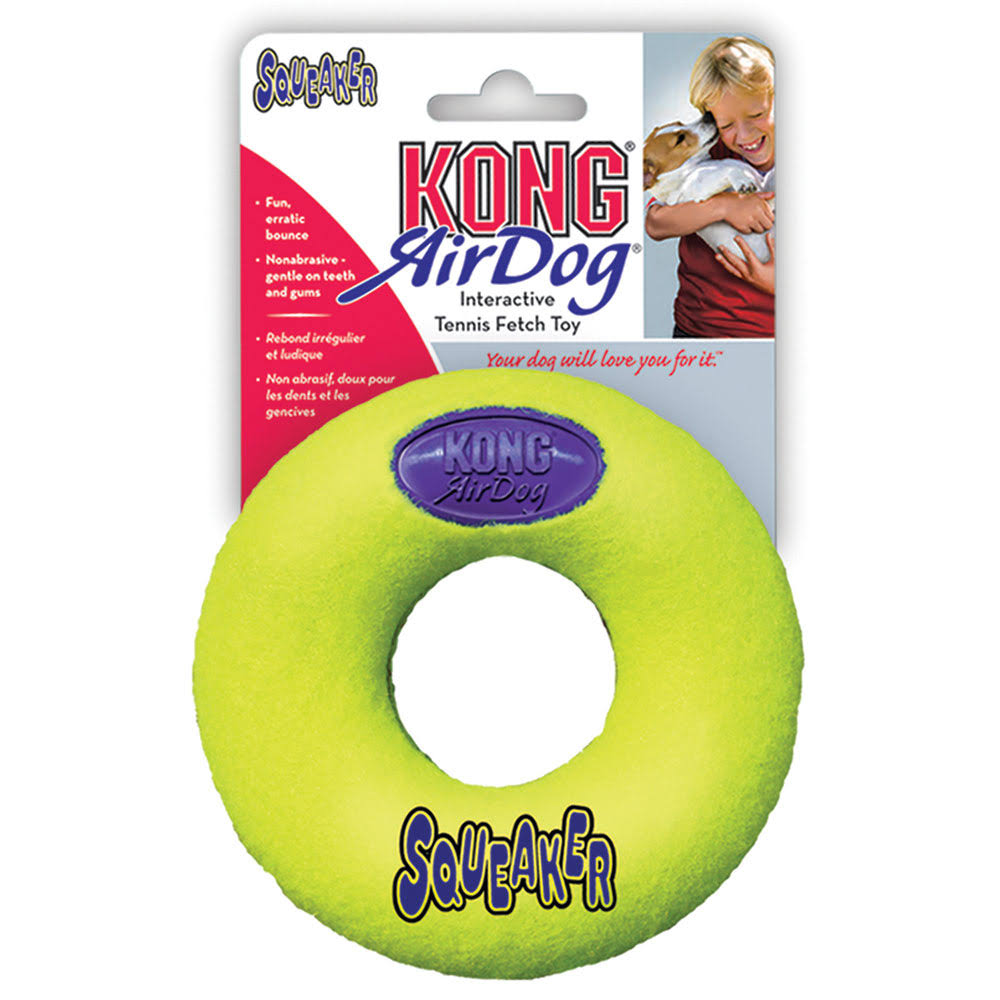 Kong Air Dog Donut Squeaker Toss & Fetch Dog Toy