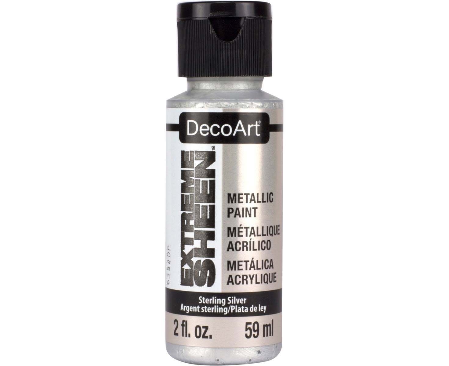 Decoart Extreme Sheen Metallic Paint - Sterling Silver, 2oz