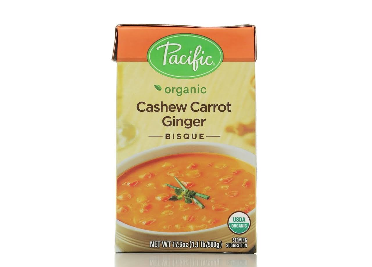 Pacific Organic Cashew Carrot Ginger Bisque - 500g