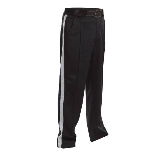 Adams Fbs182 Smitty Officials Pants Warm Weather 1 1/4 inch White Stripes All Sizes, Size: 50 Waist