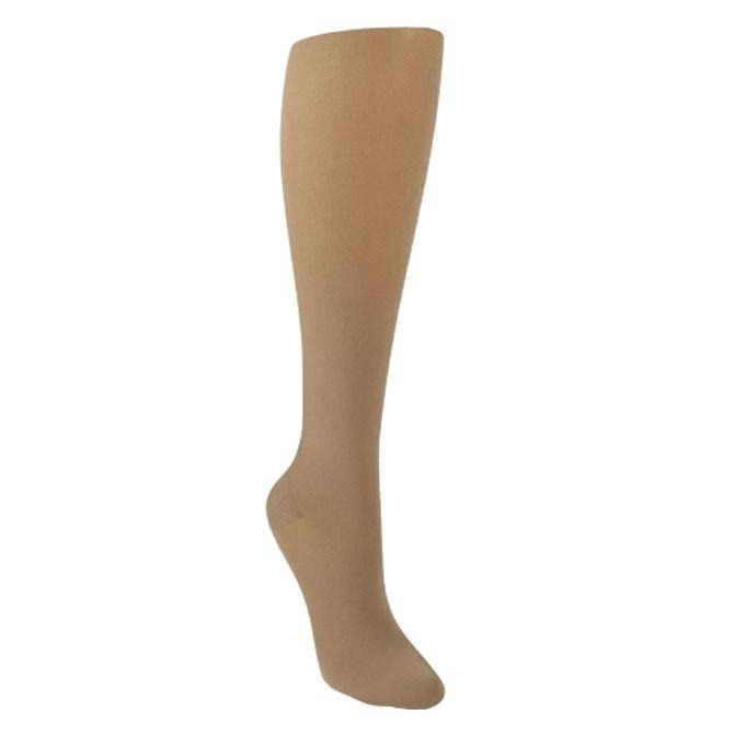 Sigvaris Soft Opaque 20-30 mmHg Knee High Open Toe Medium Long Black
