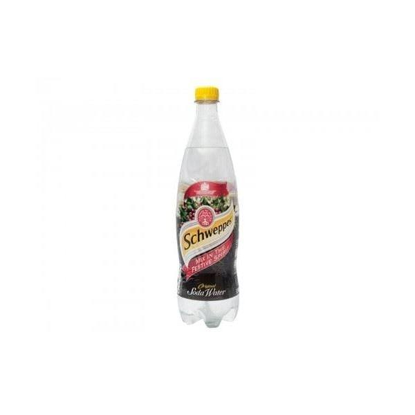 Schweppes Soda Water 1ltr 12packs