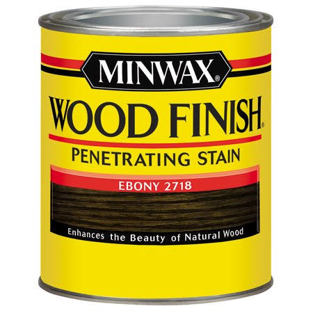 Minwax Interior Oil Based Wood Finish Stain - Ebony, 1/2 Pint