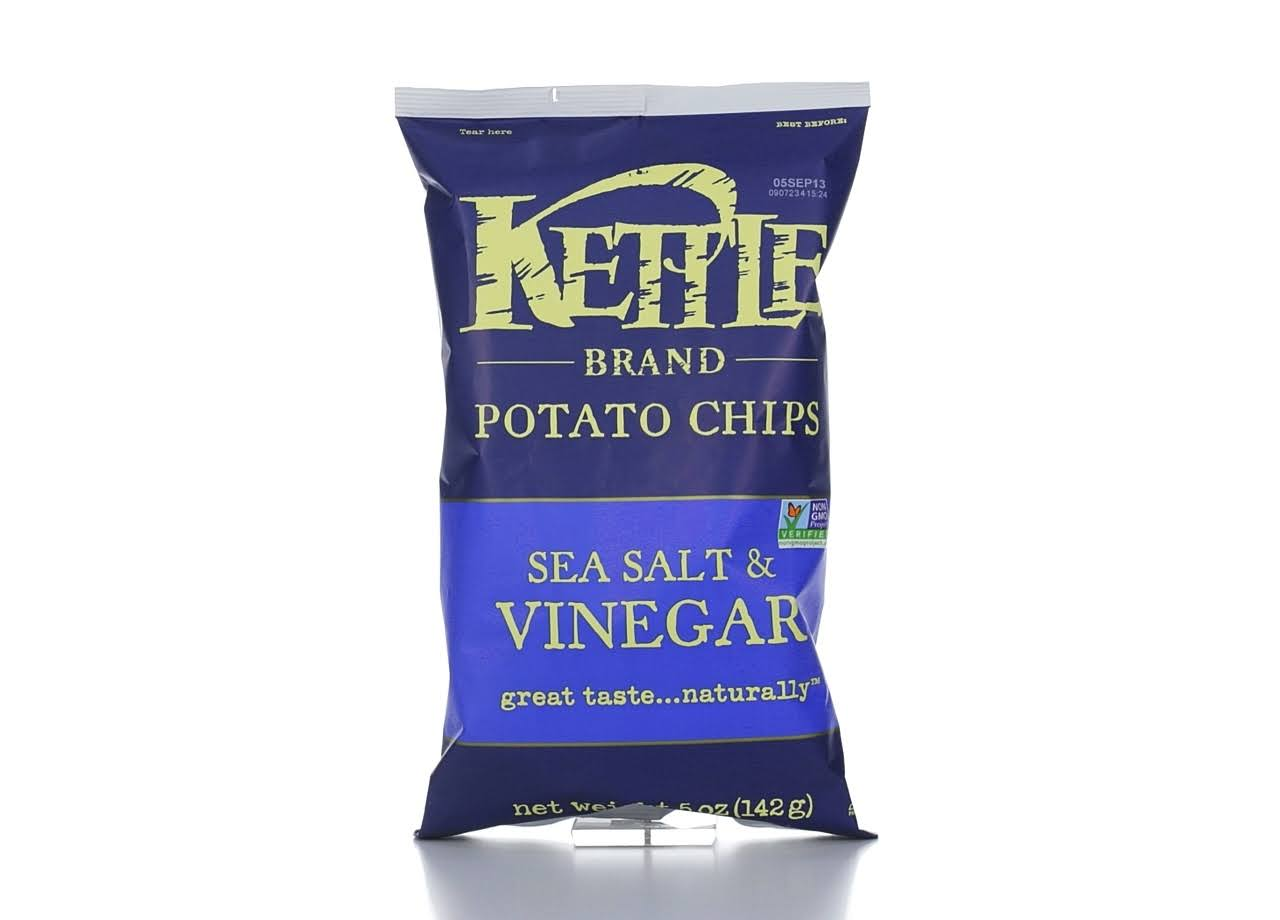 Kettle Potato Chips - Sea Salt & Vinegar, 142g