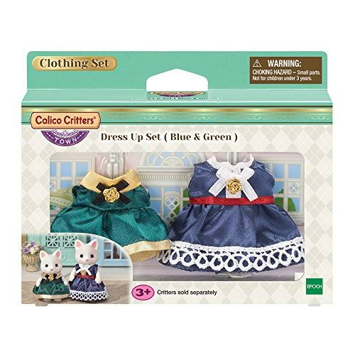 Calico Critters Town Dress Up Set (Blue & Green)