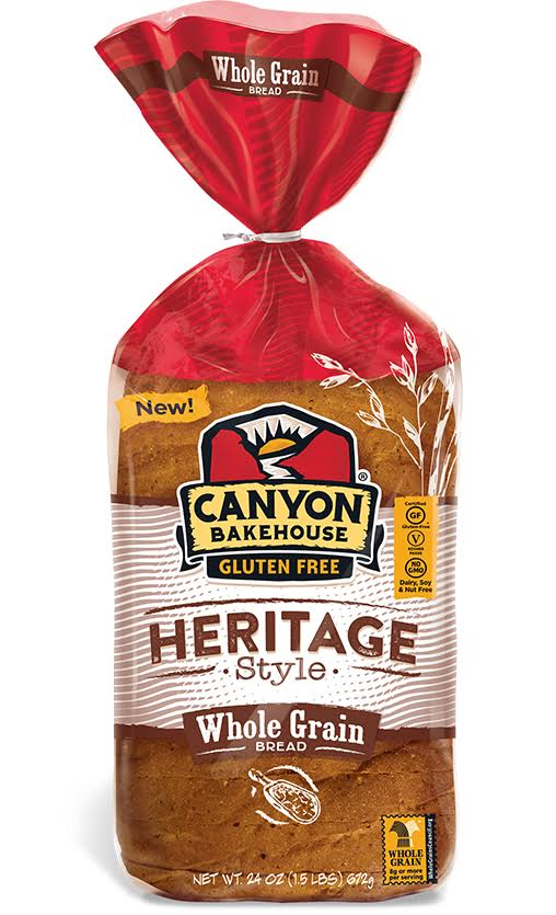 Canyon Bakehouse Bread, Gluten Free, Whole Grain, Heritage Style - 24 oz