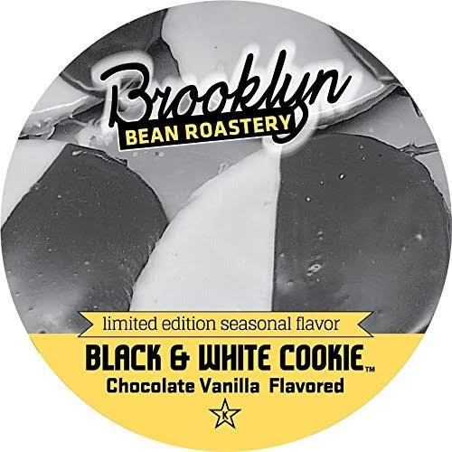 Brooklyn Bean Roastery Black and White Cookie Single Cup Coffee Pods - Chocolate and Vanilla Flavor, 24ct