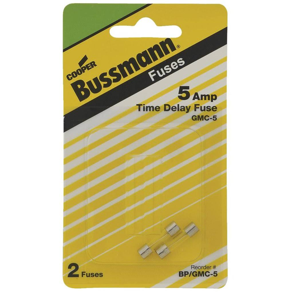Bussmann Electronic Fuse - Time Delay, 5Amp, 250V, 5mm X 20mm, 2ct