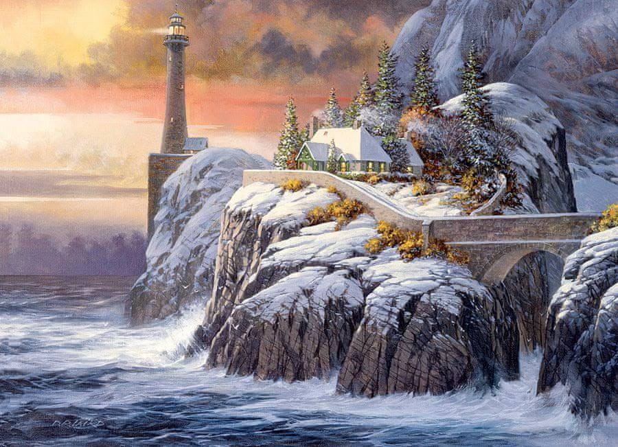 Cobble Hill Winter Lighthouse 1000 Piece Puzzle