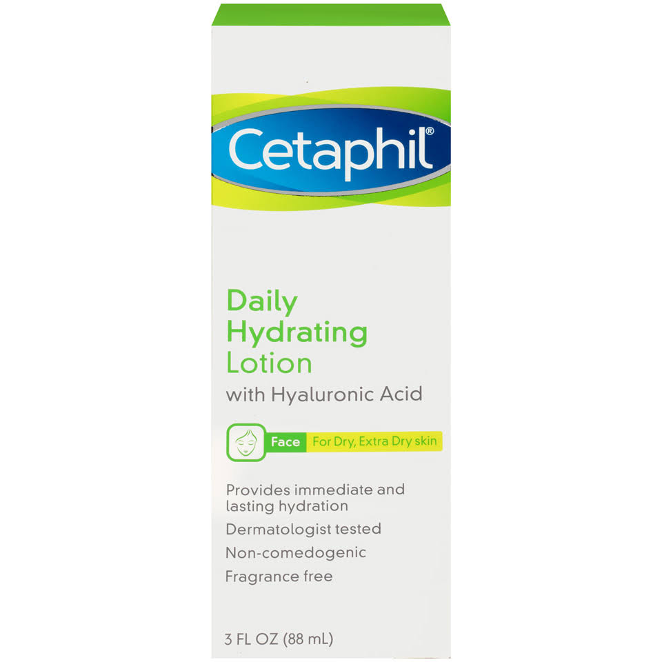 Cetaphil Face Daily Hydrating Lotion with Hyaluronic Acid - 3oz