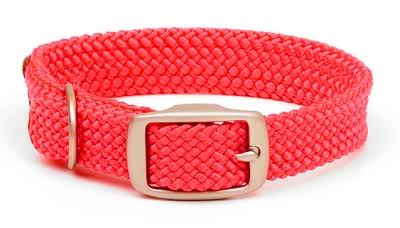 Mendota Products Double Braid Dog Collar, Red, 18-in
