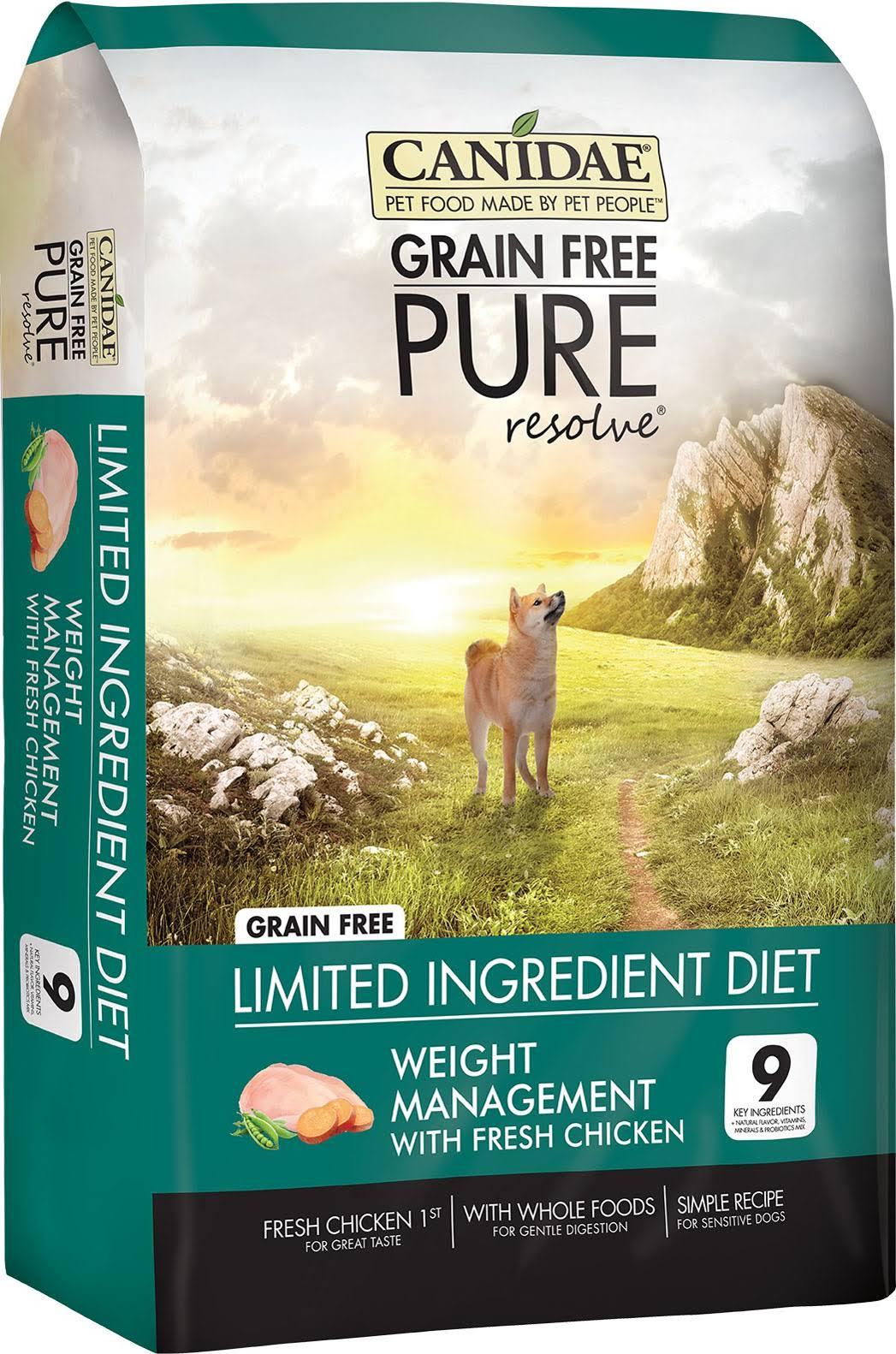 Canidae Grain Pure Resolve Weight Management Natural Dog Food - 4lbs