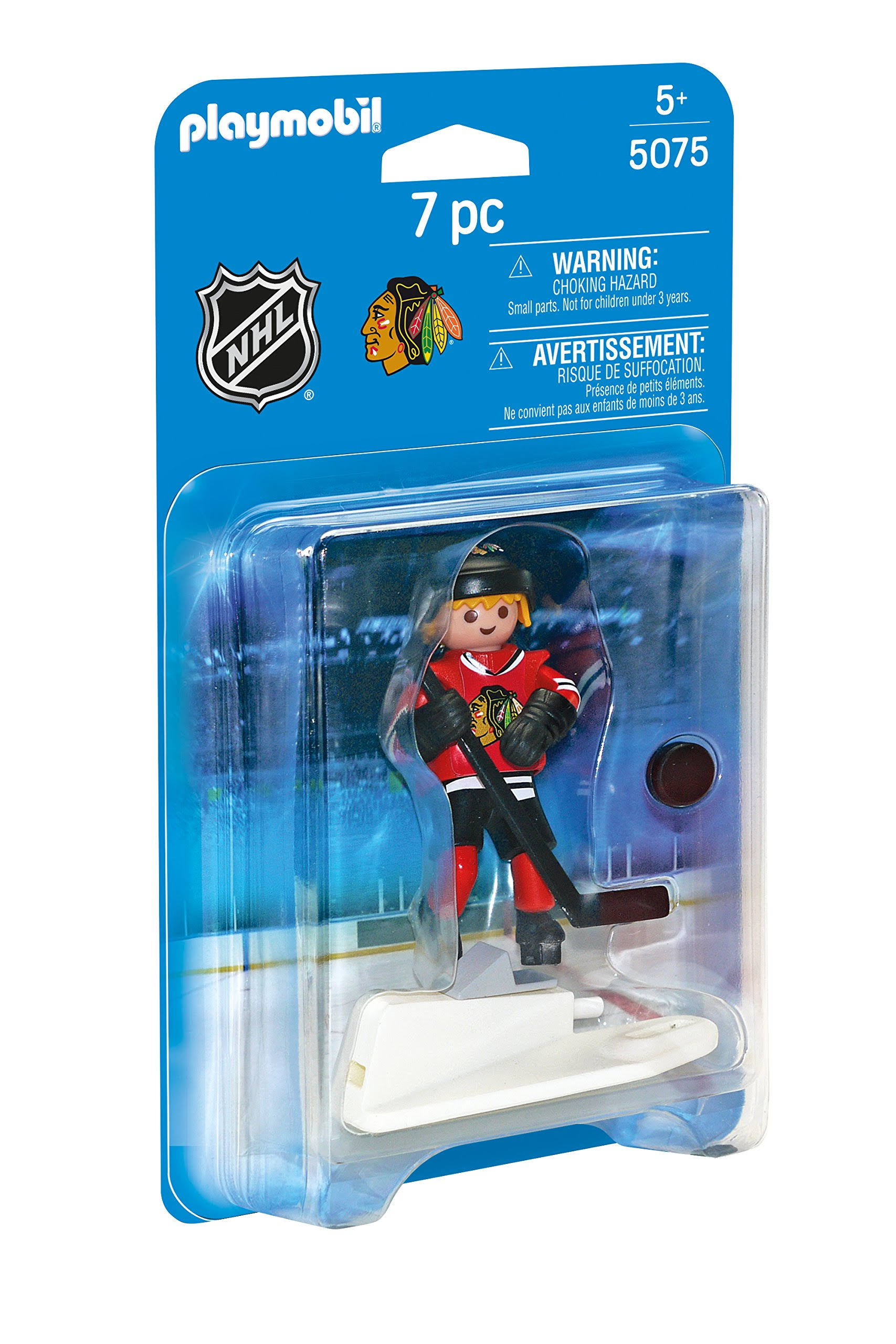 Playmobil 5075 Nhl Chicago Blackhawks Player - 7 Pieces