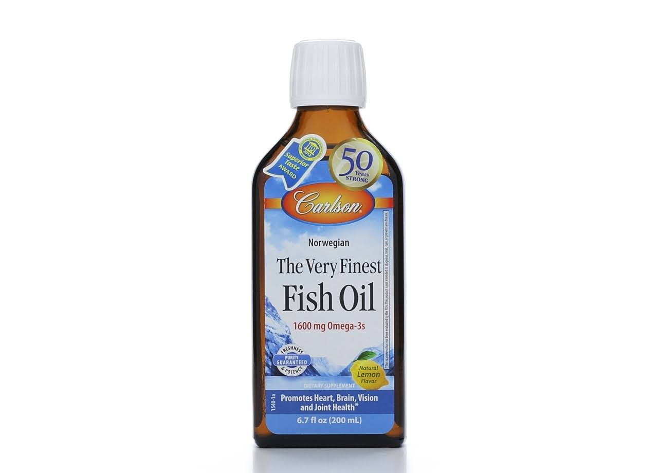 Carlson The Very Finest Fish Oil - Lemon, 200ml