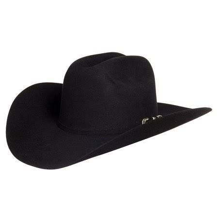 Stetson Hats Mens Hats 6X Skyline 4 1/4 Brim Pre Creased Felt Cowboy Hat 71/4 Black