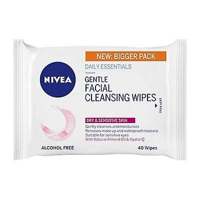 Nivea Daily Essentials 3in1 Gentle Cleansing Wipes 40 Wipes Dry Skin
