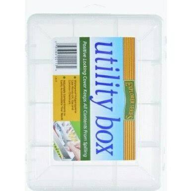South Bend Sporting Goods Utility Box - 9 Section, Clear