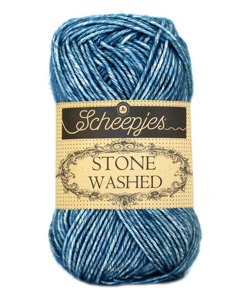 Scheepjes Stone Washed Yarn Mix - 805 Blue Apatite