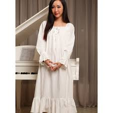 women nightgowns white spring autumn 100 cotton princess royal