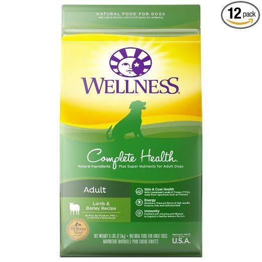 Wellness Complete Health Natural Dry Dog Food - Lamb & Barley