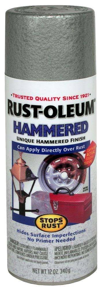 Rust-Oleum Stops Rust Hammered Spray Paint - 12oz, Silver