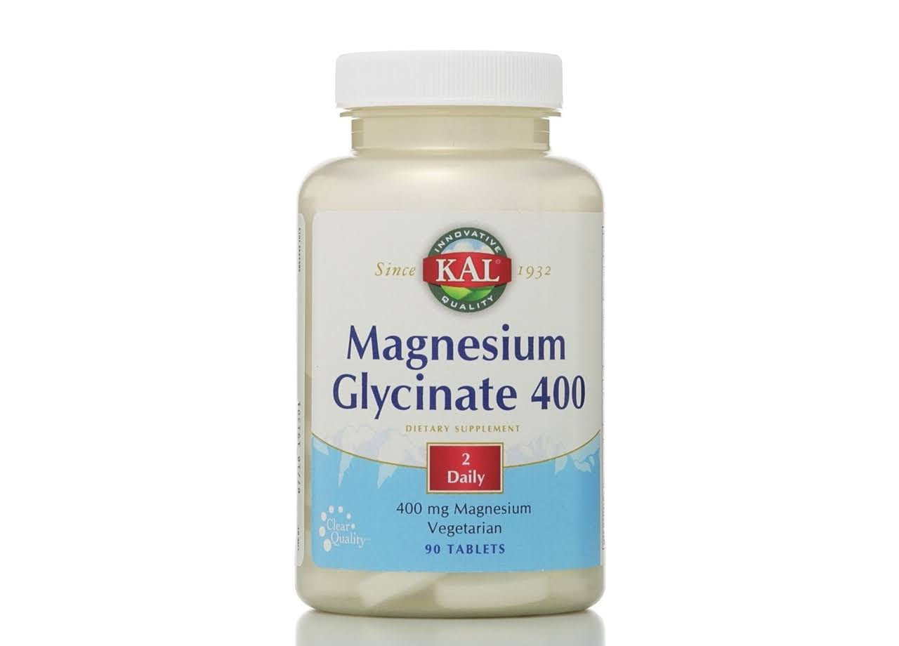 KAL Magnesium Glycinate - 90 Tablets, 400mg