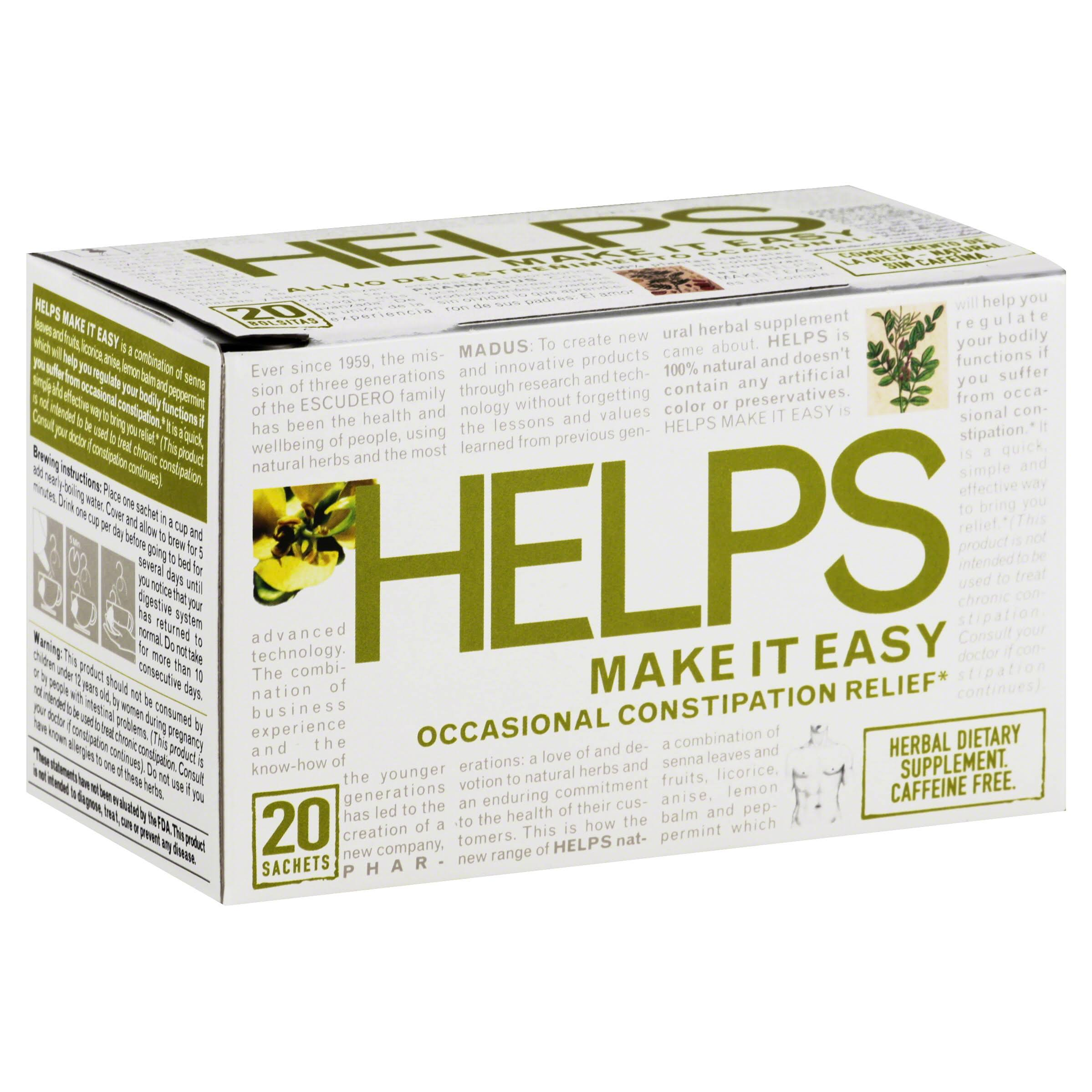 Helps Teas Make It Easy Tea - 20ct