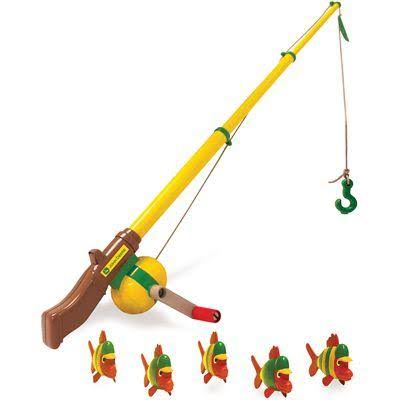 John Deere Electronic Fishing Pole Toy