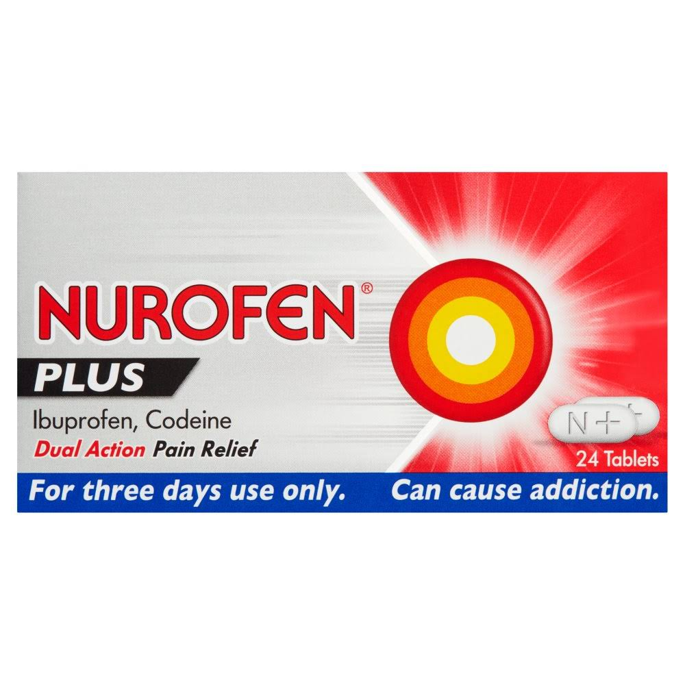 Nurofen Plus Ibuprofen Codeine Pain Relief - 24 Tablets