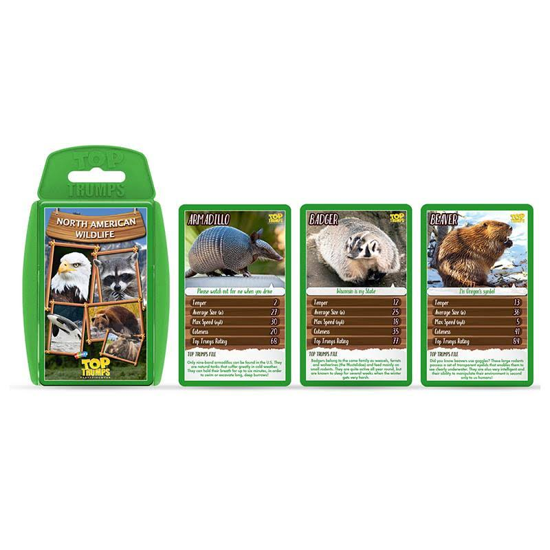 North American Wildlife Top Trumps Card Game