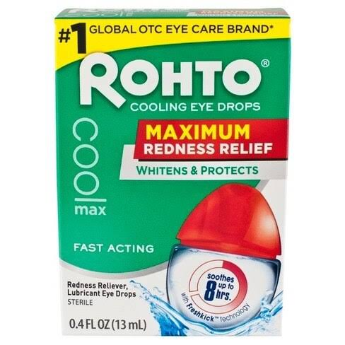 Rohto Maximum Redness Relief Cooling Eye Drops Sterile - 13ml