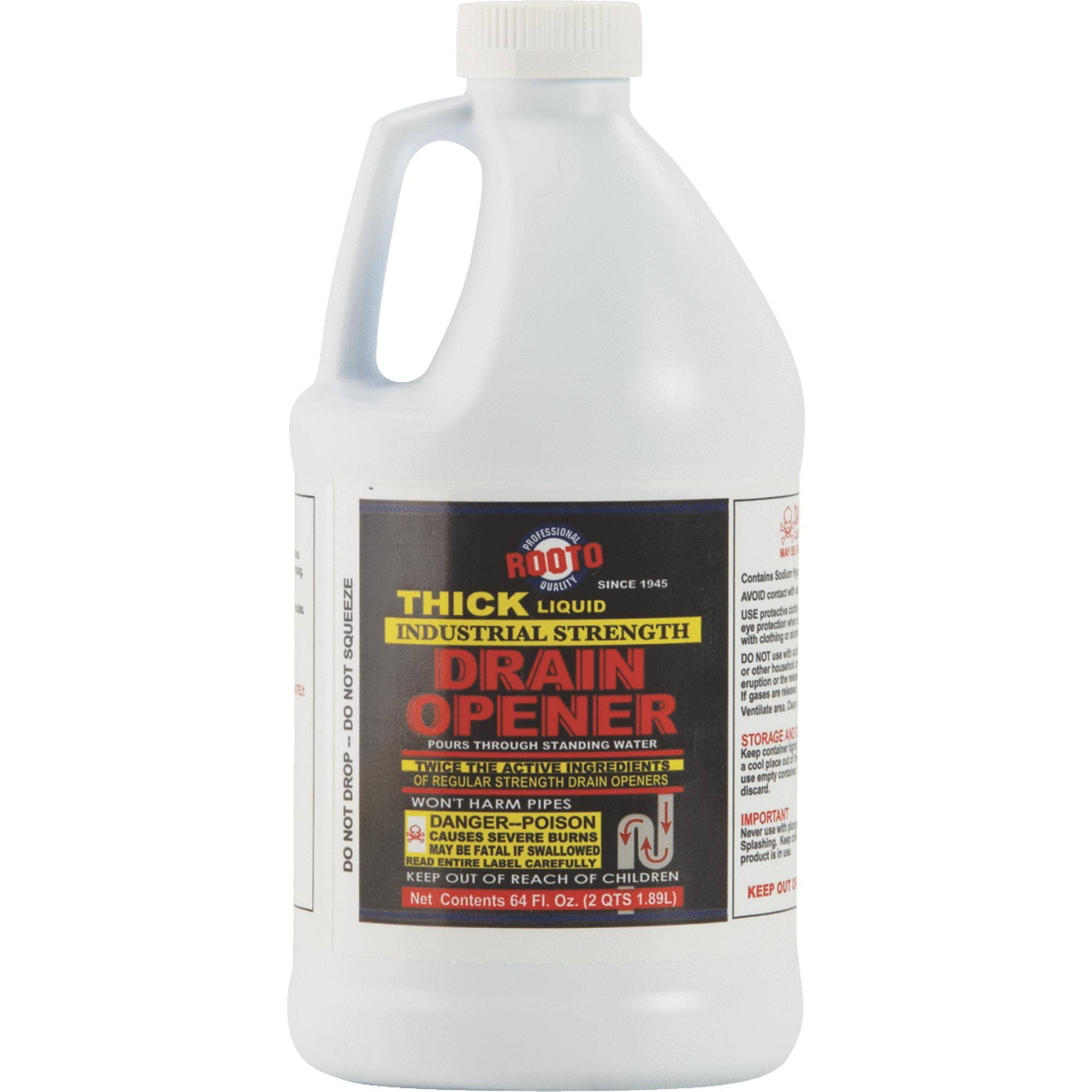 Rooto Industrial Strength Liquid Drain Cleaner - 64oz