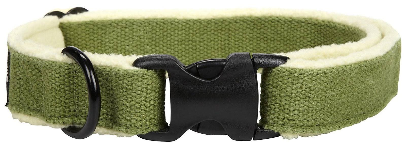Planet Dog Cozy Hemp Adjustable Collar Apple Green Large