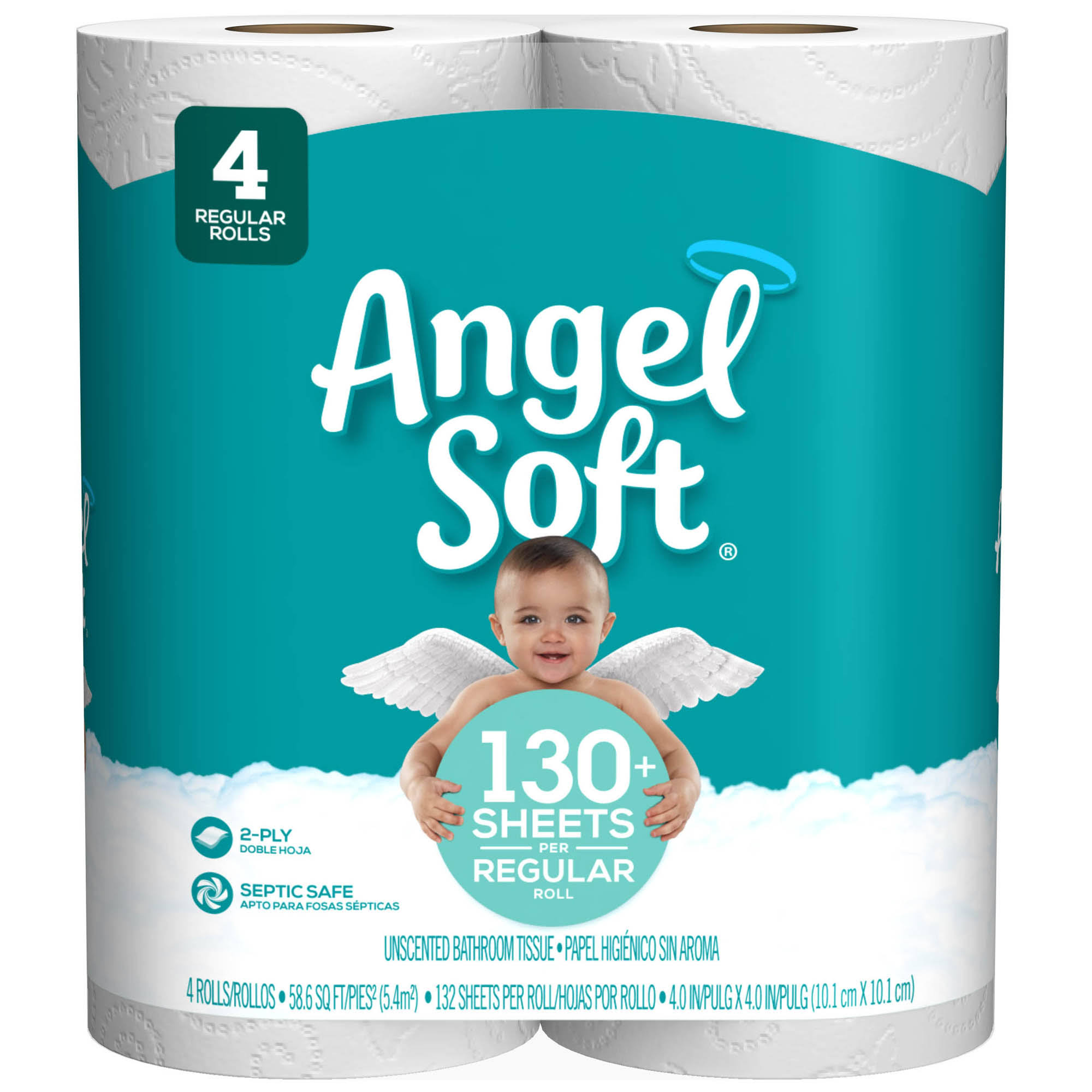 Angel Soft Unscented Bathroom Tissue