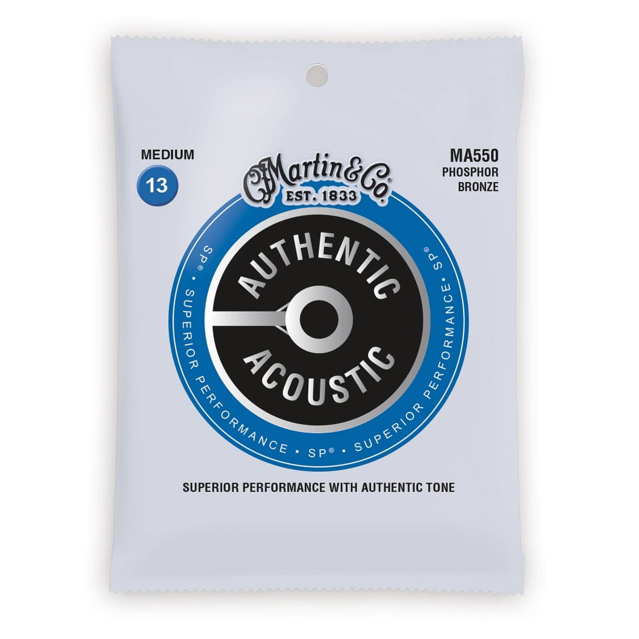 Martin Authentic MA550 Phosphor Bronze Acoustic Guitar Strings