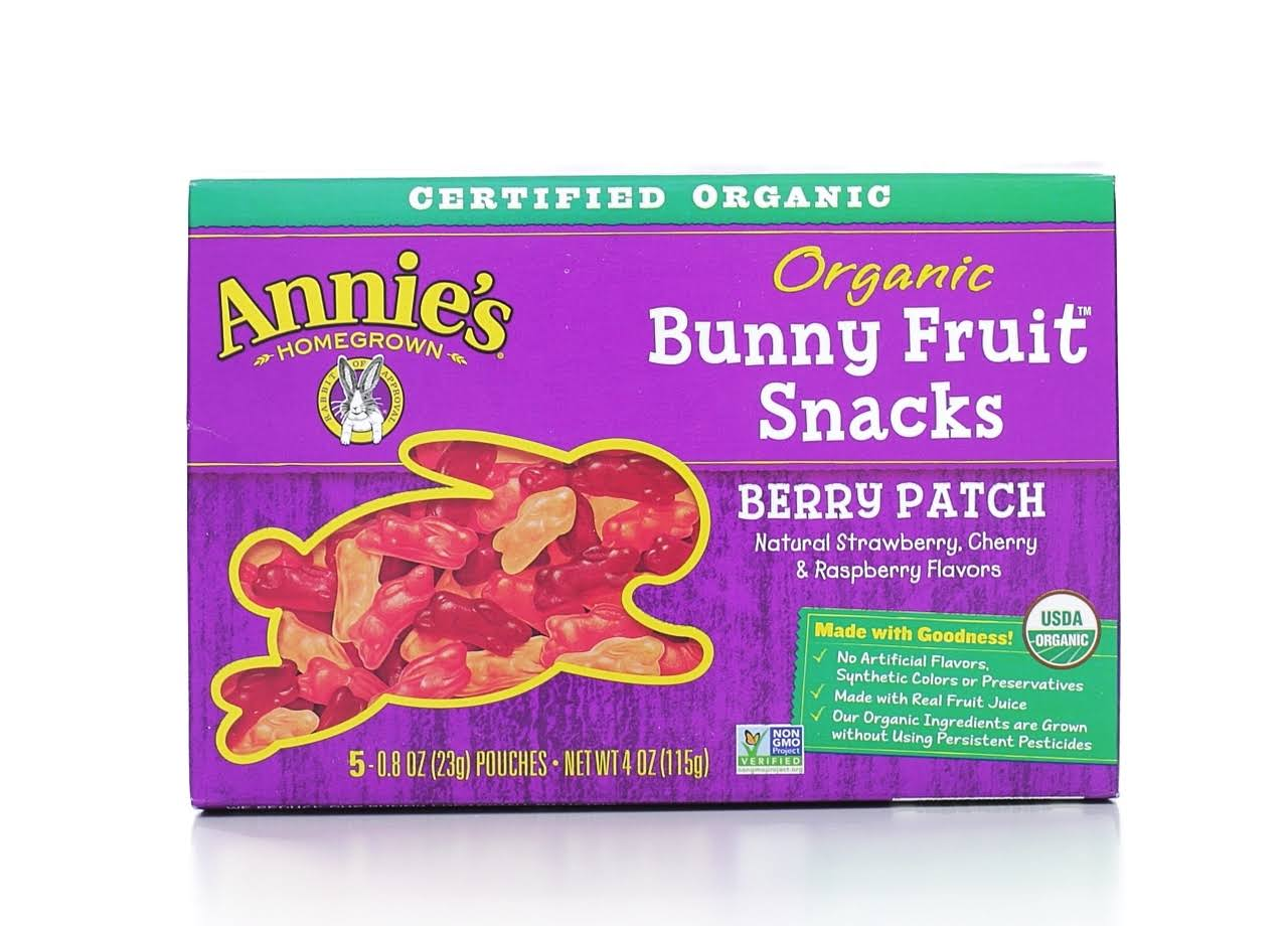 Annie's Homegrown Organic Bunny Fruit Snacks - 5ct, Berry Patch