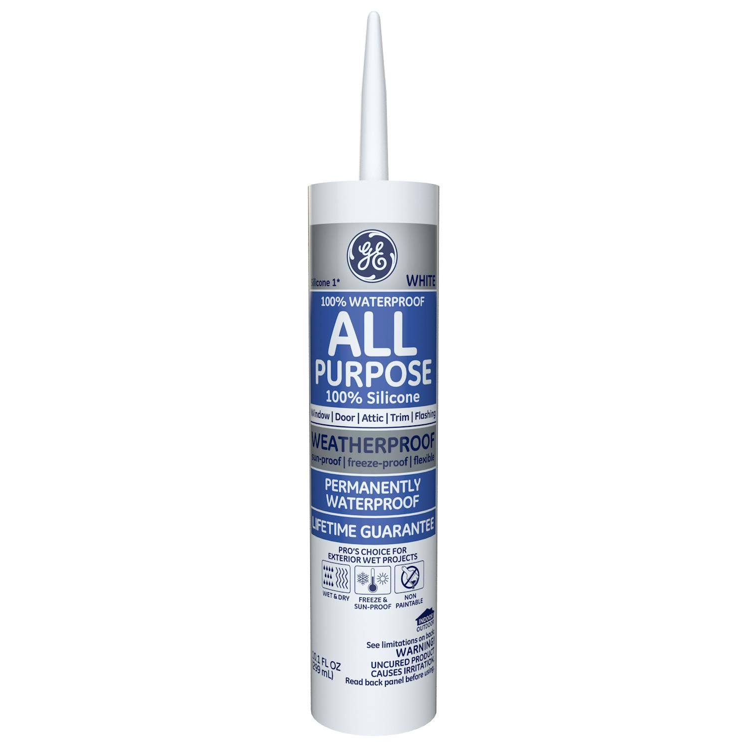 Momentive Window & Door Silicone Rubber Caulk - White
