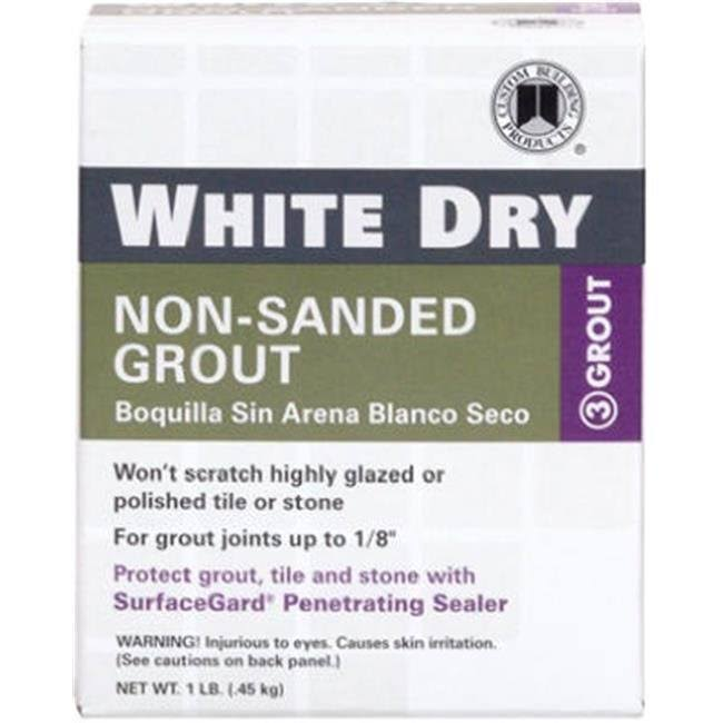 Custom Building Products WDG1-6 White Dry Non-Sanded Tile Grout - 1lb