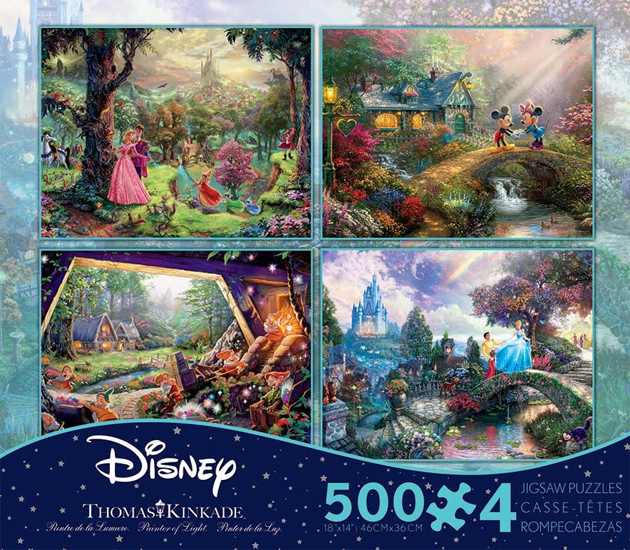 Thomas Kinkade Disney Dreams Collection Multi-pack 4 In 1 Puzzle - 500pcs