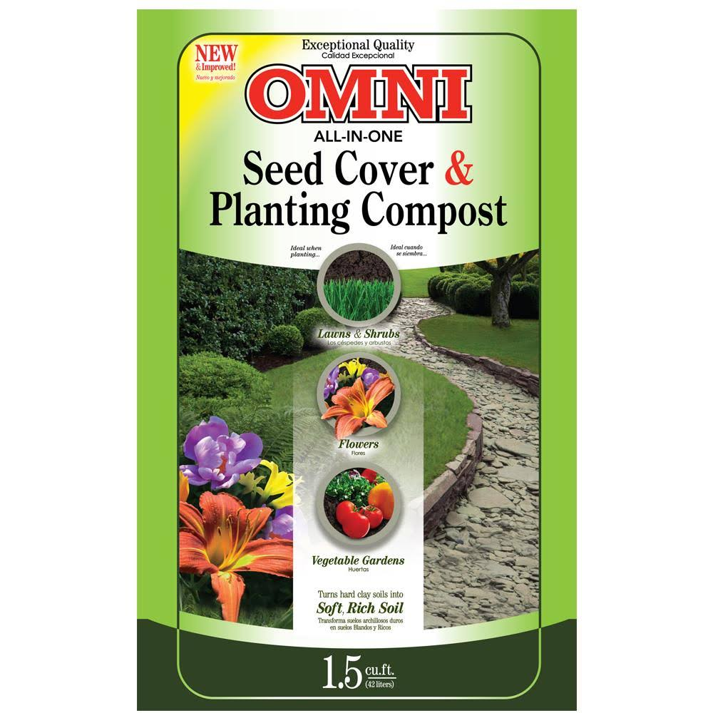 Omni Planting Compost and Seed Cover - 1.5 Cubic Feet