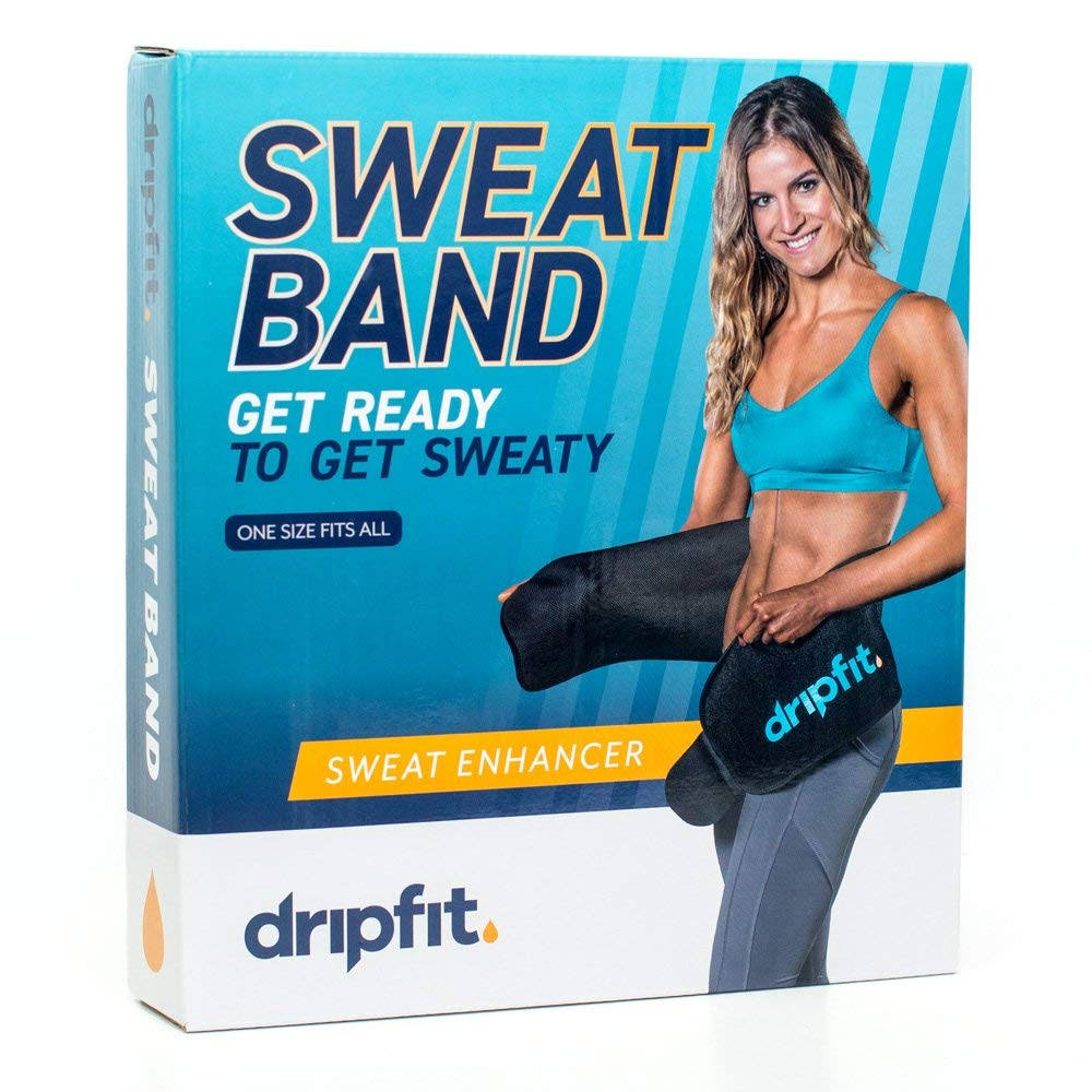 Drip Fit - Sweat Waist Band - Amplify Sweat Production - 100% Neoprene - for Men and Women - One Size Fits Most